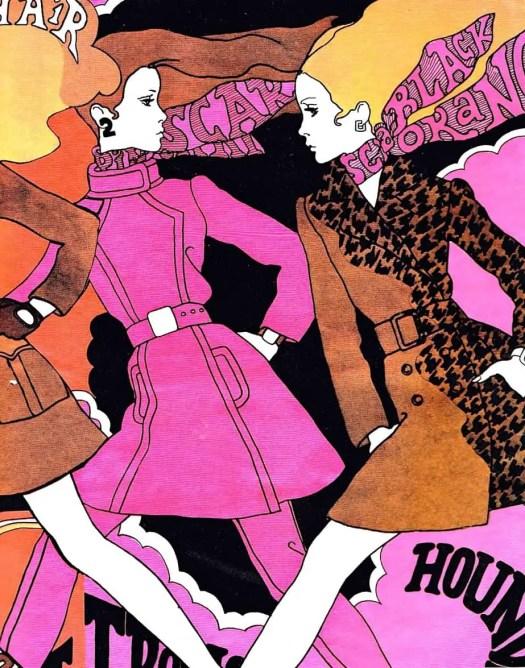 Antonio Lopez fashion designs for unknown publication, possible the cover, 1967