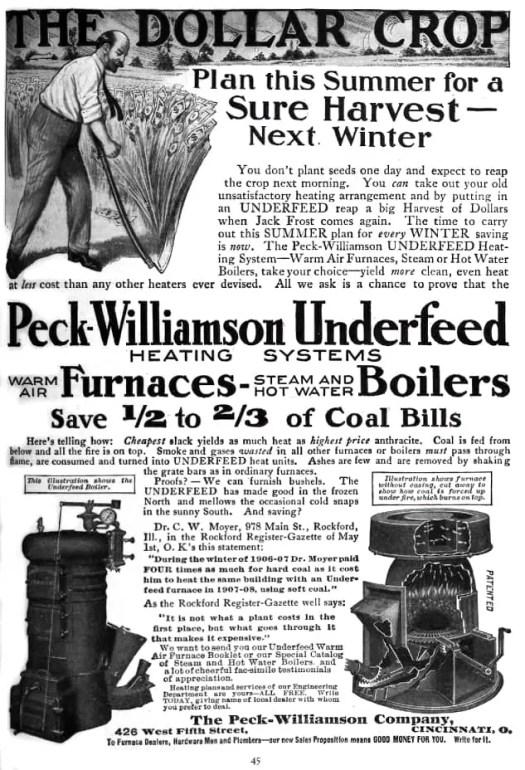 Boiler advertisement 1909 Jack Frost