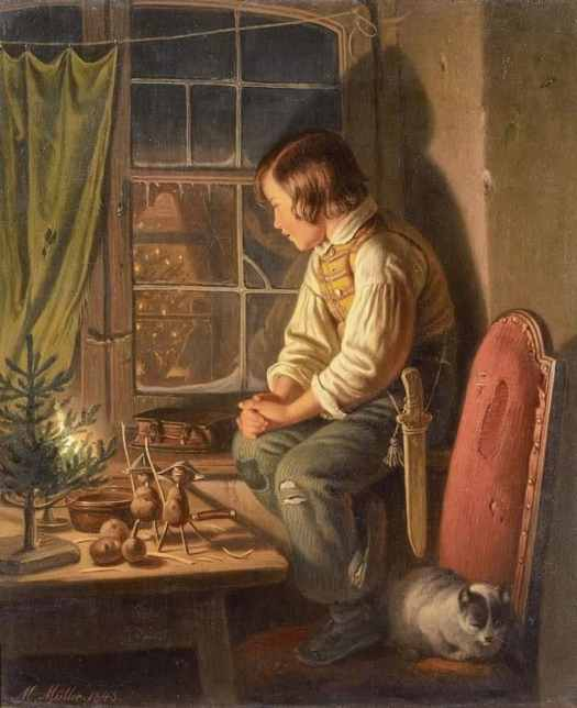 Carl Friedrich Moritz Muller (German, 1807 - 1865) Christmas Eve, 1848