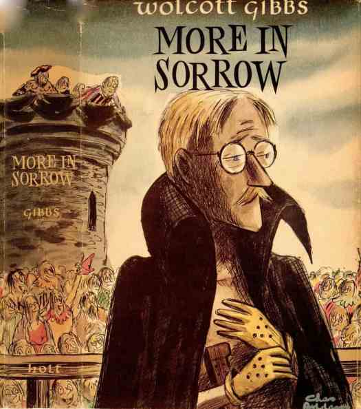 Charles Addams (1912–1988) dust jacket for 'More in Sorrow' by Wolcott Gibbs, 1958