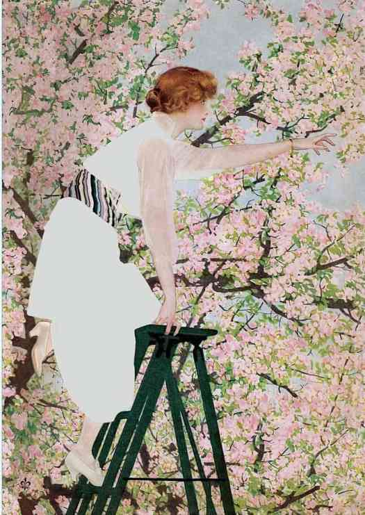 Coles Phillips - 'Good Housekeeping' magazine cover, April 1915 ladder