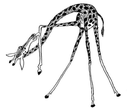DE DIERKUNDIGE DICHTOEFENINGEN VAN TRIJNTJE FOP (1955) Bertram giraffe