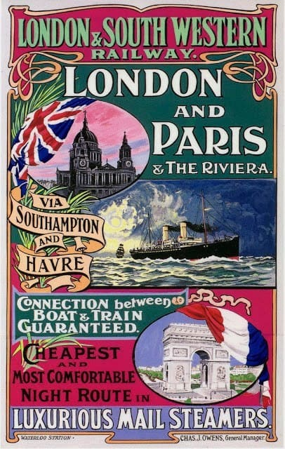 Early London and South Western Railway poster