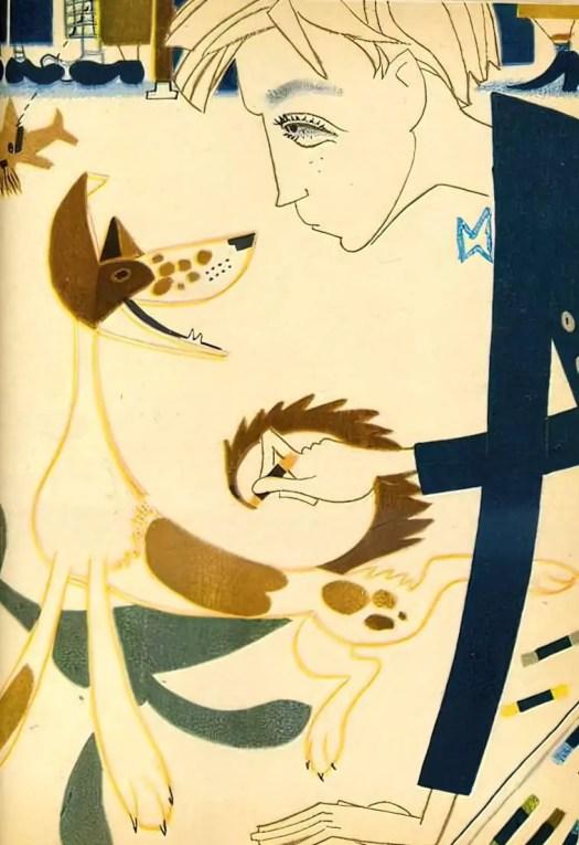 Illustration (1960) by Lev Tokmakov dog