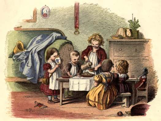 Schnick schnack trifles for the little-ones by Oscar Pletsch 1867 children playing together