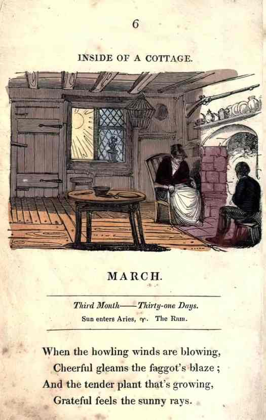 The Juvenile almanack, or, Series of monthly emblems c1822-1824 hearth