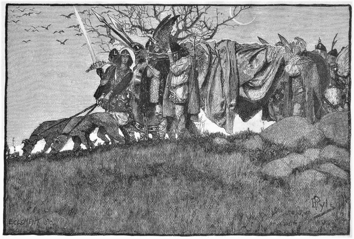 The Story of Siegfried illustrated by Howard Pyle (American, 1853-1911)