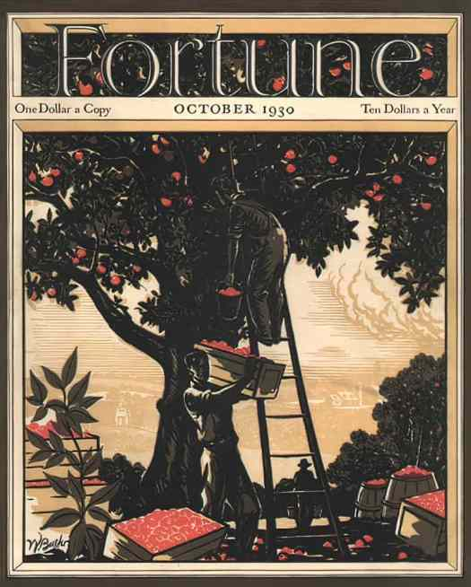 1930 October, cover by Walter Buehr fruit picking