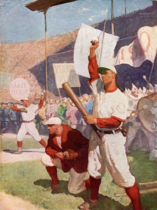 H. Howland, Baseball. The Ideal College Game, Scribner's Magazine, June 1915 Warming up for the commencement week game