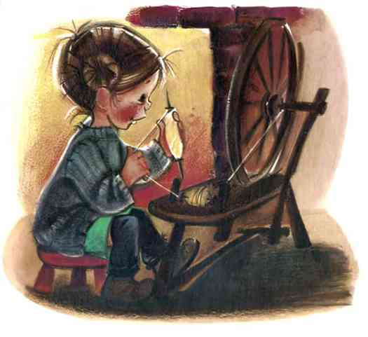 Jack and Jill and Other Nursery Rhymes 1958 Crosspatch draw the latch sit by the fire and spin