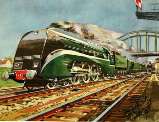 SNCF Class 232 painting by Émile André Schefer  (1896–1942)