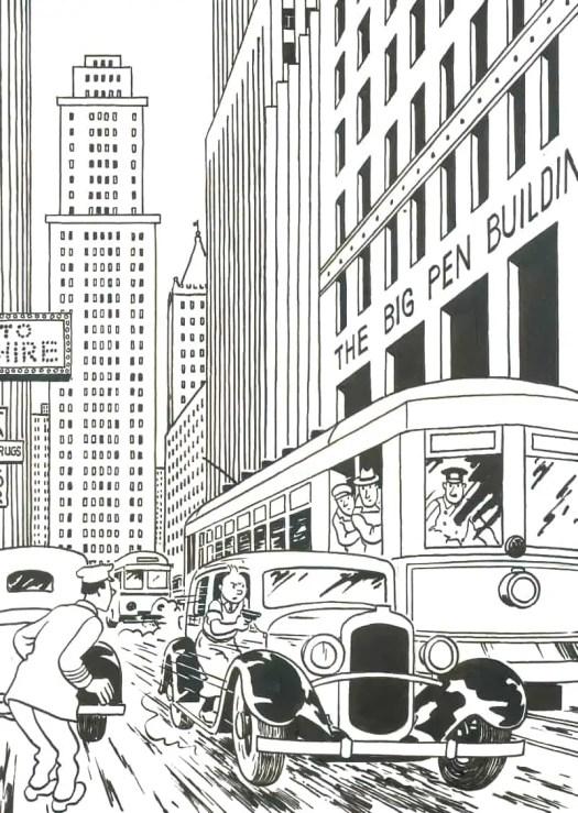 Georges Prosper Remi, aka Hergé, (1907 – 1983) rare 1937 illustration for Tintin in America