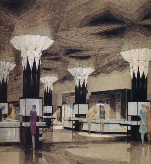 Joseph Urban (1872-1933) 1928 design illustration for Kaufmann's Department Store, Pittsburgh