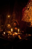 """PIRATES OF THE CARIBBEAN: ON STRANGER TIDES"" Blackbeard (IAN McSHANE) at work on the dark arts in the sinister captain's cabin of the Queen Anne's Revenge."