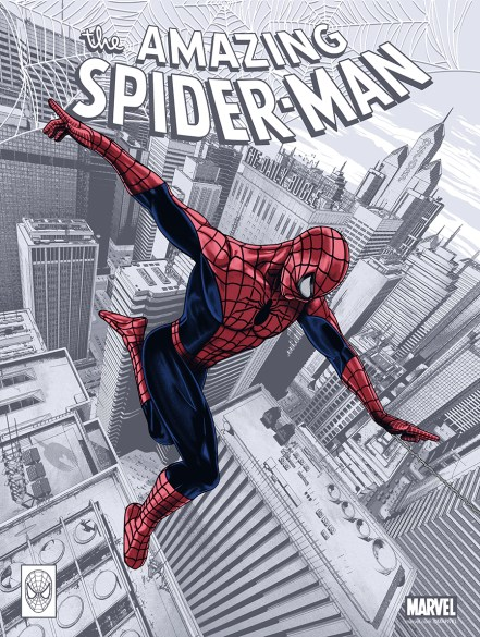 """The Amazing Spider-Man by Chris Skinner 18"""" x 24"""" screen print. Edition of 175."""