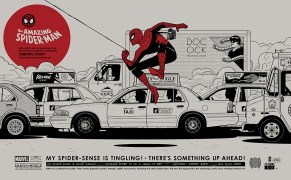 """Spider-Man by Gianmarco Magnani 23.622"""" x 14.567"""" screen print. Edition of 225."""