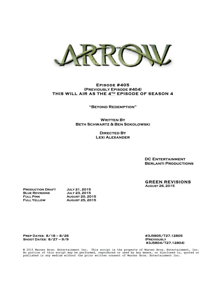 Arrow Lexi Alexander
