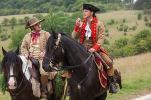 Beauty and the Beast - Lefou (Josh Gad) and Gaston (Luke Evans)