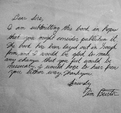 Burton's Letter to Disney