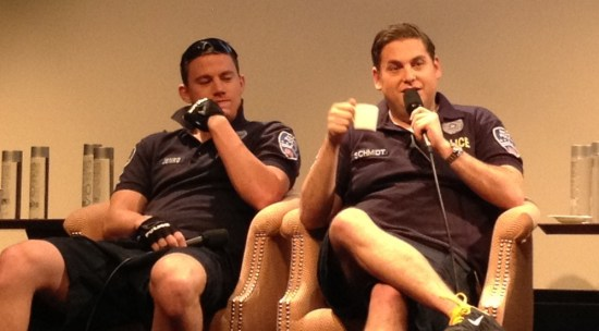 Channing Tatum and Jonah Hill at 21 Jump Street press conference