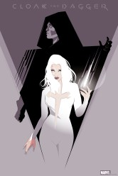 """Cloak and Dagger by Craig Drake 24"""" x 36"""" screen print. Edition of 150."""