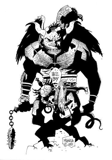 FirstHellboy_OriginalSketch (Mike Mignola)