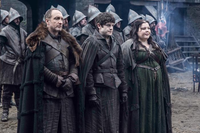 Game of Thrones Season 5 - Roose Bolton, Ramsay Bolton, and Walda Frey