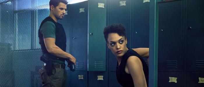 Hunters - Nathan Phillips and Britne Oldford