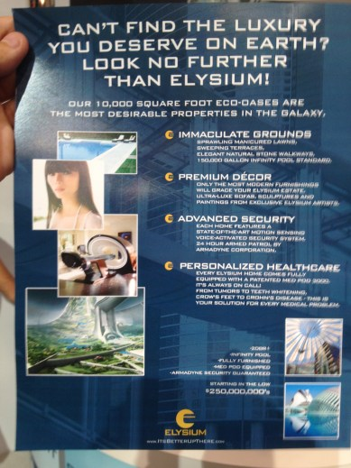 Elysium Viral Display at Comic Con 2012