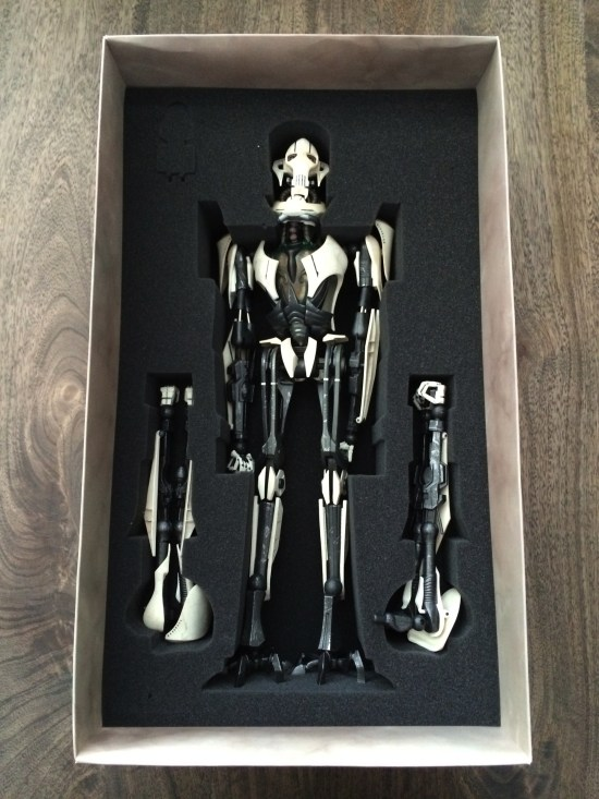 Sideshow Star Wars General Grievous Sixth Scale Figure unboxing