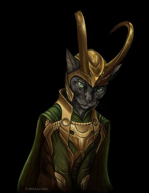 Jenny Parks Cat Loki