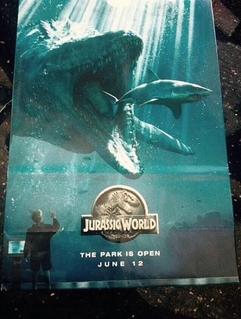 Jurassic World Shark poster