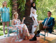 Mad Men Season 7 garden party - Draper family