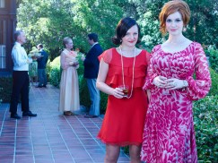 Mad Men Season 7 garden party - Peggy and Joan