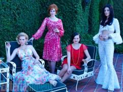 Mad Men Season 7 garden party - women