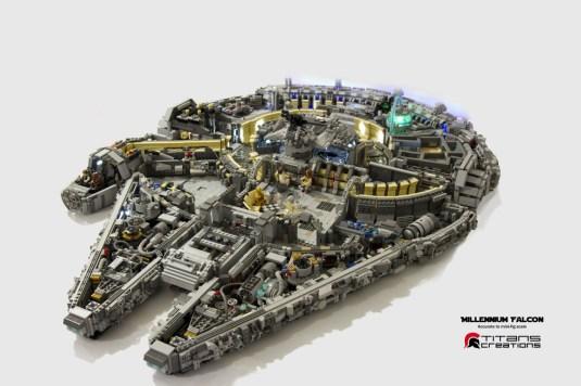 Millennium Falcon Fan Build 1