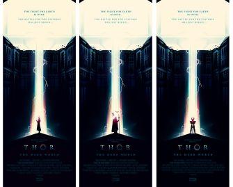 Olly Moss Thor Dark World triple
