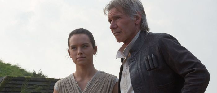 Rey's parents / Star Wars: The Force Awakens - Rey (Daisy Ridley) and Han Solo (Harrison Ford)