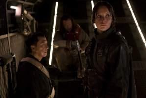 Rogue One A Star Wars Story - Donnie Yen as Chirrut Imwe, Wen Jiang as Baze Malbus, Felicity Jones as Jyn Erso