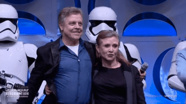 Star Wars 7 images - Hamill and Fisher