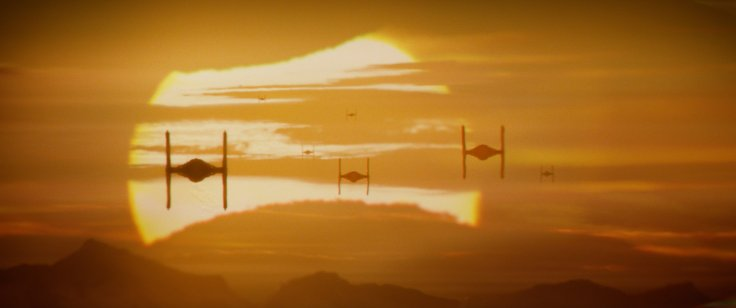 Star Wars The Force Awakens tie fighters
