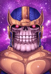 """Thanos by Mike Mitchell 13"""" x 19"""" giclee. Edition of 145."""