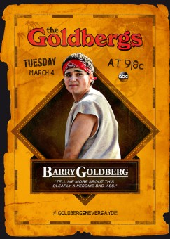 The Goldbergs Goonies trading card - Barry Goldberg