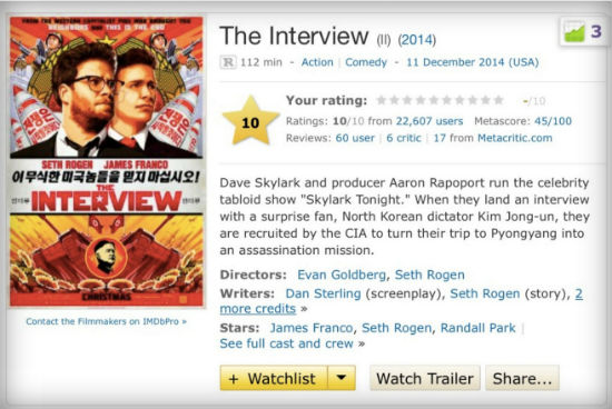 The Interview IMDB 10