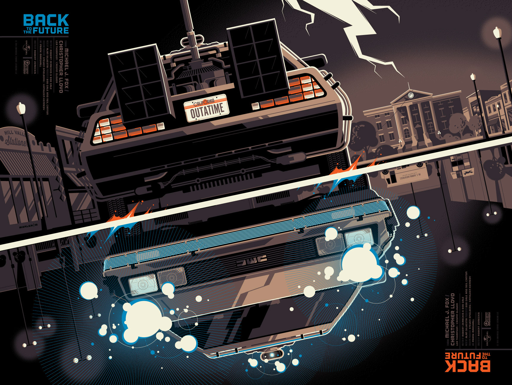 exclusive tom whalen back to the future mondo poster. Black Bedroom Furniture Sets. Home Design Ideas