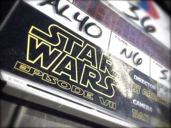 Photo: Star Wars Episode 7 Clapboard on Day One Of Filming