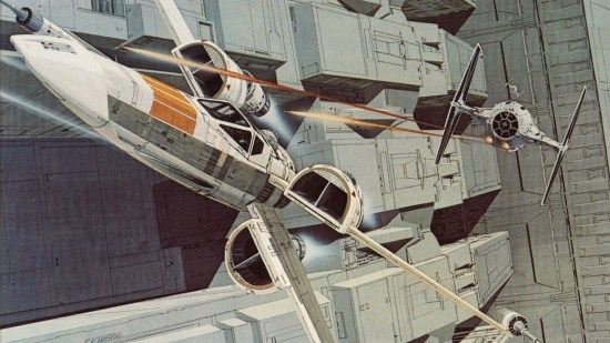 Ralph McQuarrie concept art from Star Wars of the X-Wing