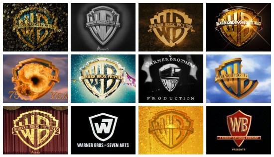 90 years worth of Warner Bros. logos: 13 main logos, 200+ variations, 300+ images