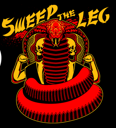 "Karate Kid-inspired design ""Sweep The Leg""."