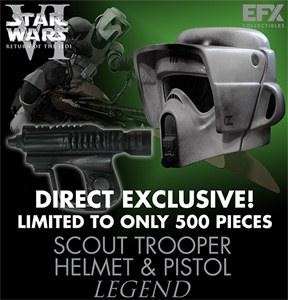 eFx Legend Scout Trooper Helmet & Pistol